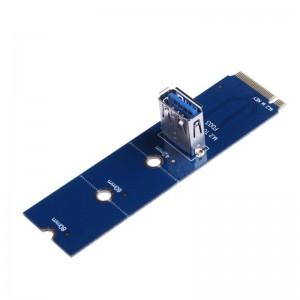 "NGFF M.2 į USB 3.0 PCI-E plokštė ""Blue edition"""