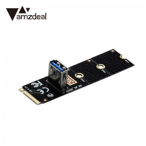 "M.2 į USB 3.0 PCI-E plokštė ""Black edition"" (BTC/ETH kasimui, NGFF)"