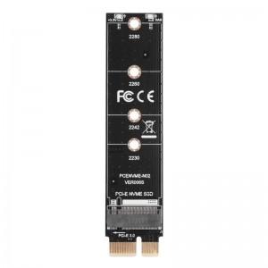 """M.2 į PCI-E plokštė """"Black edition"""" (NVME, NGFF)"""