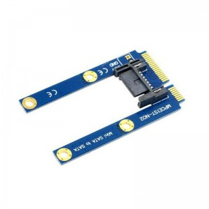 "PCI-E mSATA SSD į Flat SATA 7pin plokštė ""Blue edition"" (50 mm)"