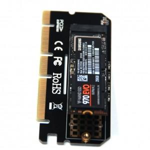 "M.2 į PCI-E 3.0 X16 plokštė ""Black edition"" (NVME, NGFF, SSD)"