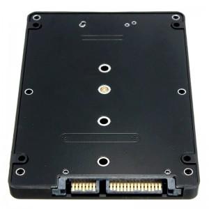 "M.2 NGFF (SATA) SSD į 2.5 SATA plokštė ""Black edition"""