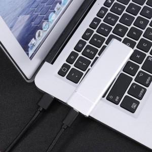 """Išorinis dėklas m2 SATA plokštei """"Silver Light"""" (USB 3.1 į NGFF M.2)"""