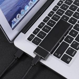 """Išorinis dėklas m2 SATA plokštei """"Black Light"""" (USB 3.1 į NGFF M.2)"""