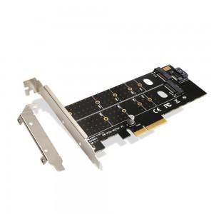 "M.2 į PCI-E 3.0 X16 plokštė ""Black edition Pro 3"" (NVME, NGFF, SSD)"