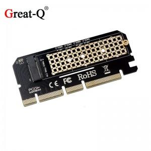 "M.2 į PCI-E 3.0 X16 plokštė ""Black edition Pro 4"" (NVME, NGFF, SSD)"