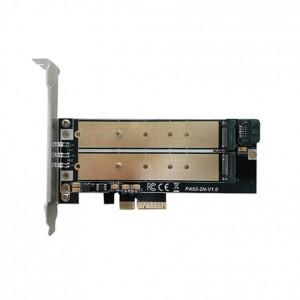 "M.2 į PCI-E 3.0 X4 plokštė ""Black edition Pro 5"" (NVME, NGFF, SSD)"