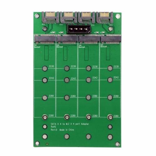 "M.2 į SATA plokštė ""Green edition"" (NGFF B arba B/M key)"