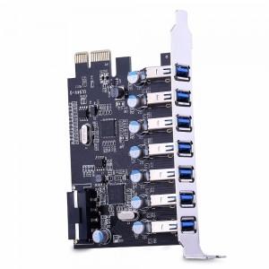 """PCI-E USB 3.0 plokštė """"Black edition"""" (7 lizdai)"""