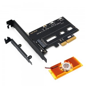 "M.2 į PCI-E 3.0 X4 plokštė ""Black edition Pro 6"" (NVME, NGFF, SSD)"