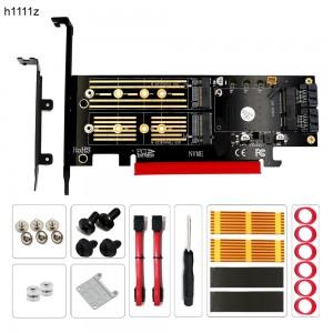 "M.2 į PCI-E 3.0 X16 plokštė ""Black edition Pro 7"" (NVME, NGFF, SSD)"