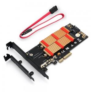 "M.2 į PCI-E 3.0 X4 plokštė ""Black edition Pro 10"" (NVME, NGFF, SSD)"