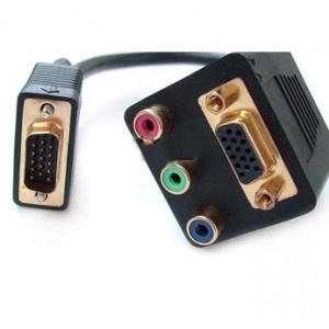 VGA į 3 RCA ir VGA dalintuvas