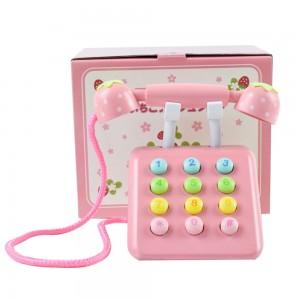 """Vaikiškas medinis telefonas """"Rožininiauskas"""""""