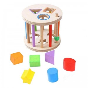 """Vaikiškas medinis konstruktorius """"Puikioji logika"""""""