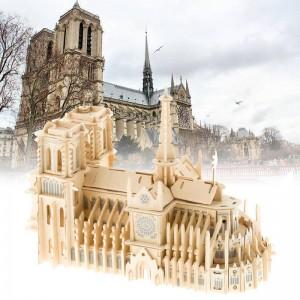 """Vaikiškas medinis konstruktorius """"Paryžiaus Dievo Motinos katedra"""""""