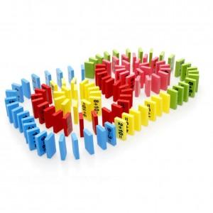 """Vaikiškas medinis žaislas """"Matematinis domino"""""""