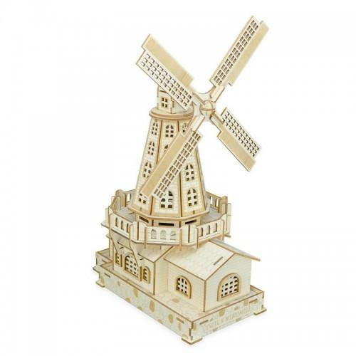 """Vaikiškas medinis konstruktorius """"3D malūnas"""""""