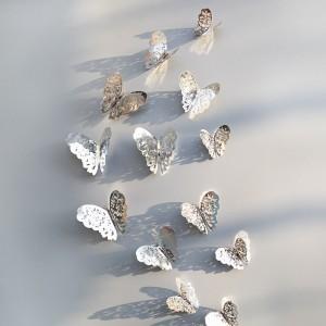 """Veidrodiniai lipdukai """"Stilingieji drugeliai 2"""" (12 vnt.)"""
