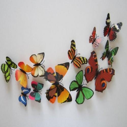 """Veidrodiniai lipdukai """"Puikieji drugeliai 4"""" (12 vnt.)"""