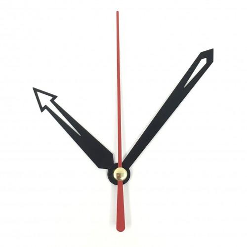 """Laikrodžio mechanizmas """"Stilingosios juodosios rodyklės"""" (10 vnt.)"""