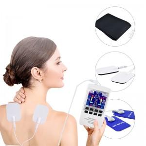 """Elektroninis kūno masažuoklis-treniruoklis """"Gudrutis"""" (dvigubo veikimo, 16 elektrodų pagalvėlių)"""