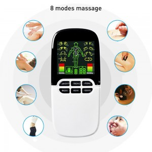 """Elektroninis kūno masažuoklis-treniruoklis """"Elegancija"""" (dvigubo veikimo, 4 elektrodų pagalvėlės)"""