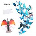"""Magnetiniai lipdukai """"Mėlynieji drugeliai 4"""" (12 vnt.)"""
