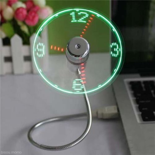 """USB laikrodis """"Neoninis vėjo malūnas"""""""