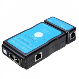 """Laidų testeris """"Geras laidas"""" (USB ir tinklo kabelių RJ45, RJ11)"""