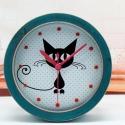 """Būgninis laikrodis """"Katino džiaugsmas"""" (žalias)"""