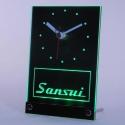 """LED PRO 3D stalo laikrodis """"Sansui"""" (žalias)"""