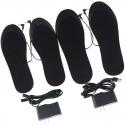 """Šildantys vidiniai batų padai """"Juodoji elegancija 3"""" (USB, įkroviklis)"""
