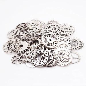 """Dekoratyviniai laikrodžių puošybos elementai """"Senovės elegancija"""" (sidabro spalvos)"""