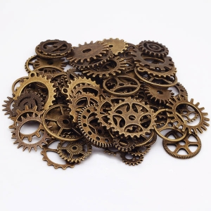 """Dekoratyviniai laikrodžių puošybos elementai """"Senovės elegancija"""" (bronzos spalvos)"""