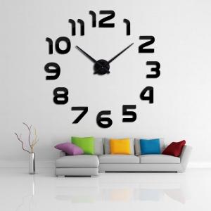 """Sieninis laikrodis """"Modernumas"""" (juodos spalvos)"""