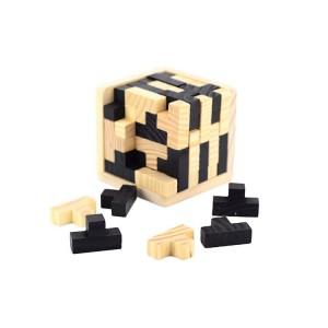 """Medinė dėlionė """"3D kūbas"""""""