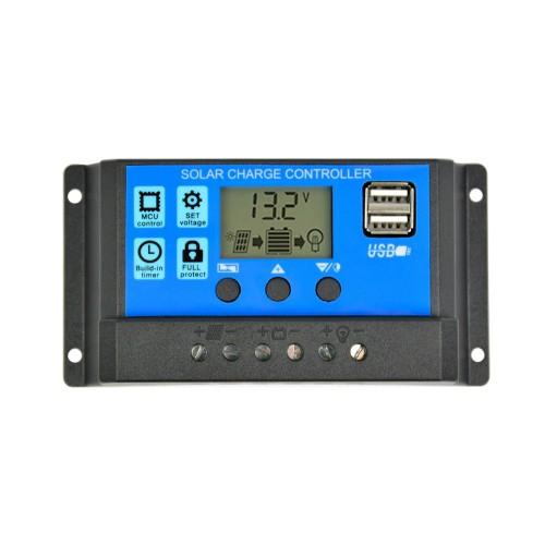 """Saulės baterijos valdiklis - įkroviklis """"Solar Power Deluxe"""" (10A)"""