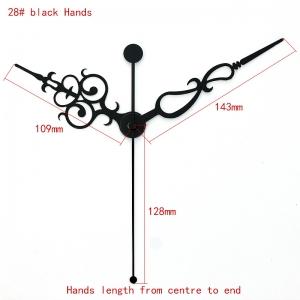 """Sieninio laikrodžio rodyklės """"Juodoji senovės elegancija"""" (100 vnt.)"""