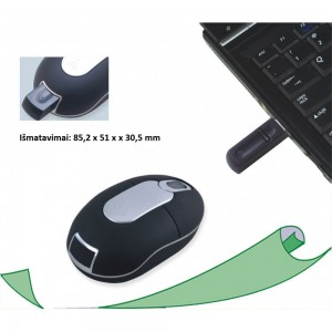 MINI USB WIRELESS Optinė pelė 800 DPI