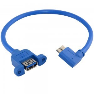 3.0 USB female į micro 3.0 USB kabelis