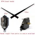 """Sieninio laikrodžio mechanizmas """"Du juodi kardai"""" (15mm ašis)"""