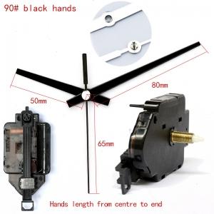"""Sieninio laikrodžio mechanizmas """"Du juodi kardai 2"""" (15mm ašis)"""