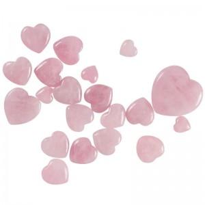 """Dekoratyvinis puošybos elementas """"Rožinė širdelė"""" (2 cm)"""