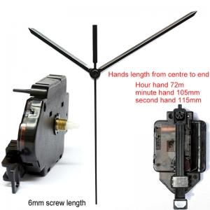 """Sieninio laikrodžio mechanizmas """"Dvi strėlės"""" (6mm ašis)"""