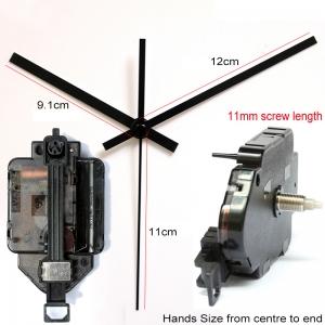 """Sieninio laikrodžio mechanizmas """"Juodoji klasika"""" (11mm ašis)"""