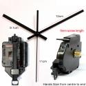 """Sieninio laikrodžio mechanizmas """"Juodoji klasika"""" (9mm ašis)"""