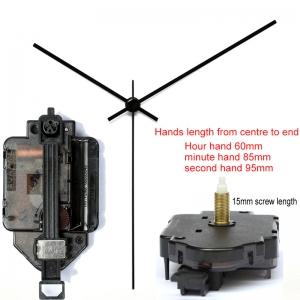"""Sieninio laikrodžio mechanizmas """"Juodoji klasika"""" (15mm ašis)"""
