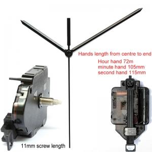 """Sieninio laikrodžio mechanizmas """"Dvi strėlės"""" (11mm ašis)"""