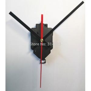 """Sieninio laikrodžio mechanizmas """"Juodoji klasika su raudona rodykle"""" (16.5mm ašis)"""